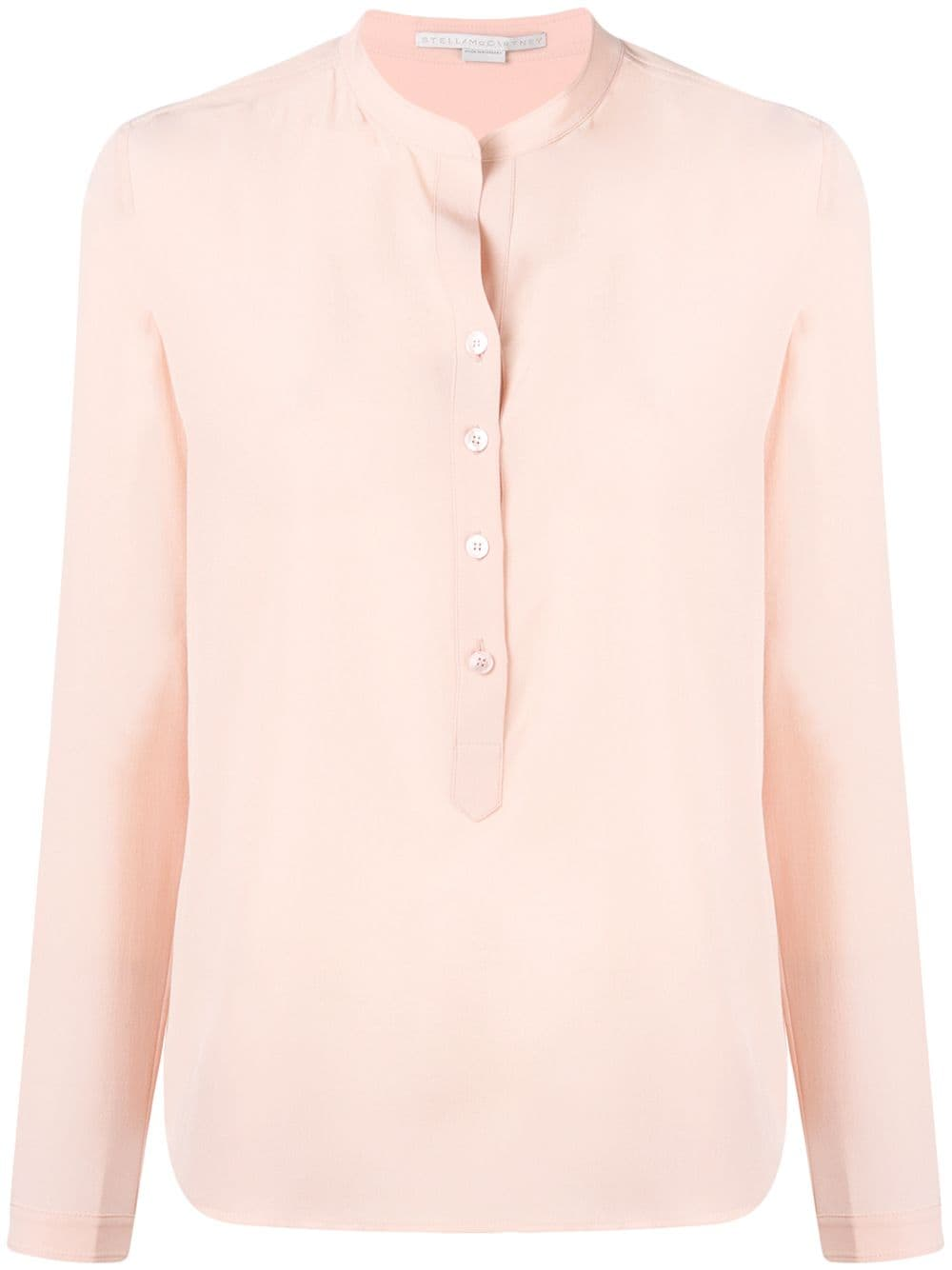 Stella McCartney band collar blouse - Pink von Stella McCartney