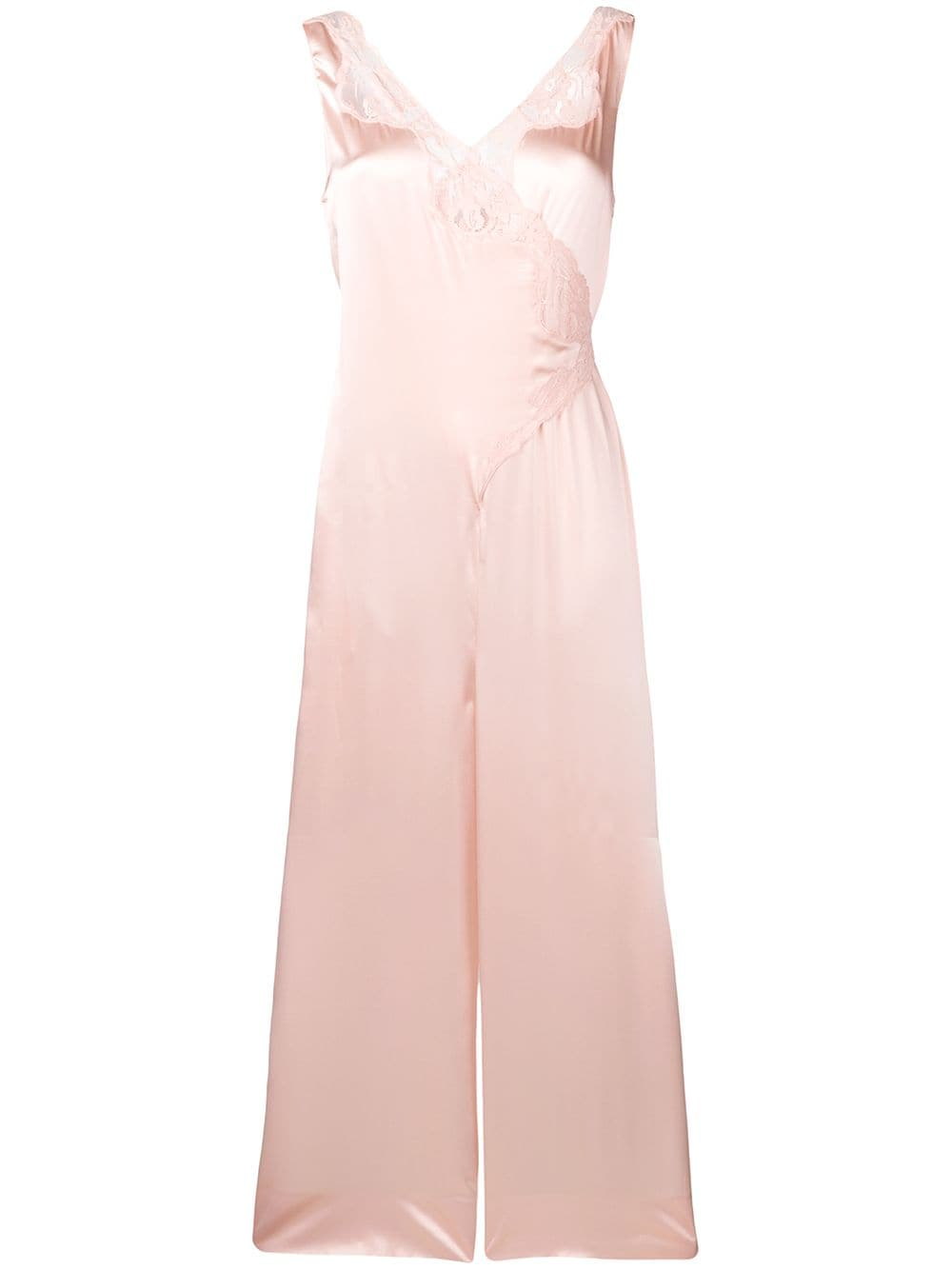 Stella McCartney lace detail jumpsuit - Pink von Stella McCartney