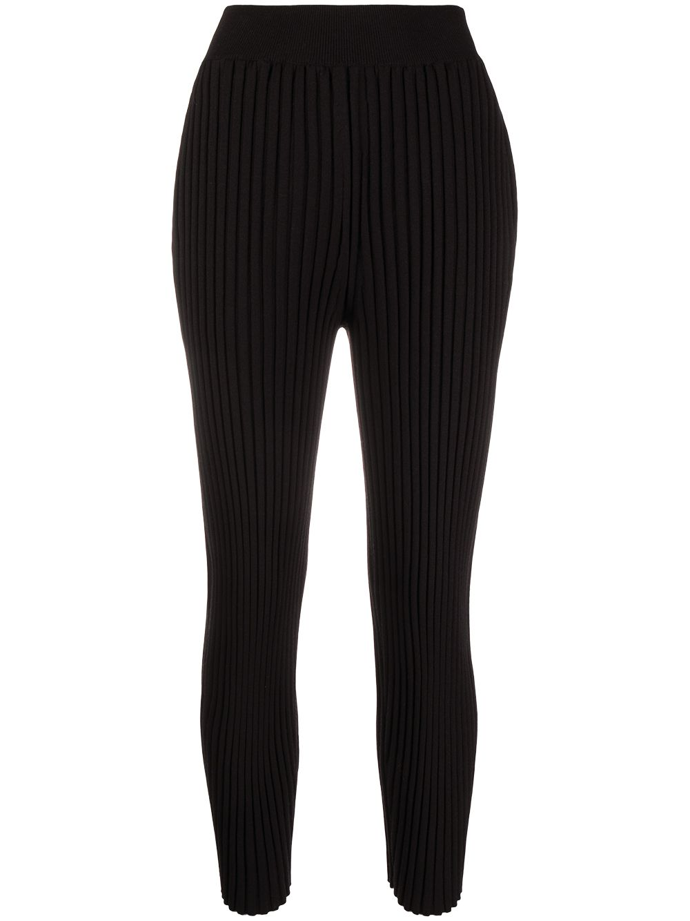 Stella McCartney ribbed knitted trousers - Black von Stella McCartney
