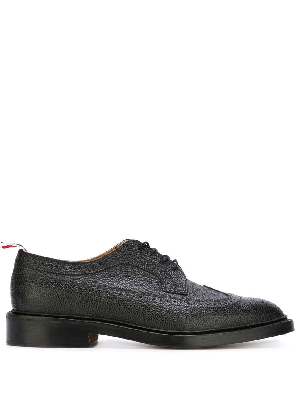 Thom Browne Classic Longwing Brogue with Leather Sole - Black von Thom Browne