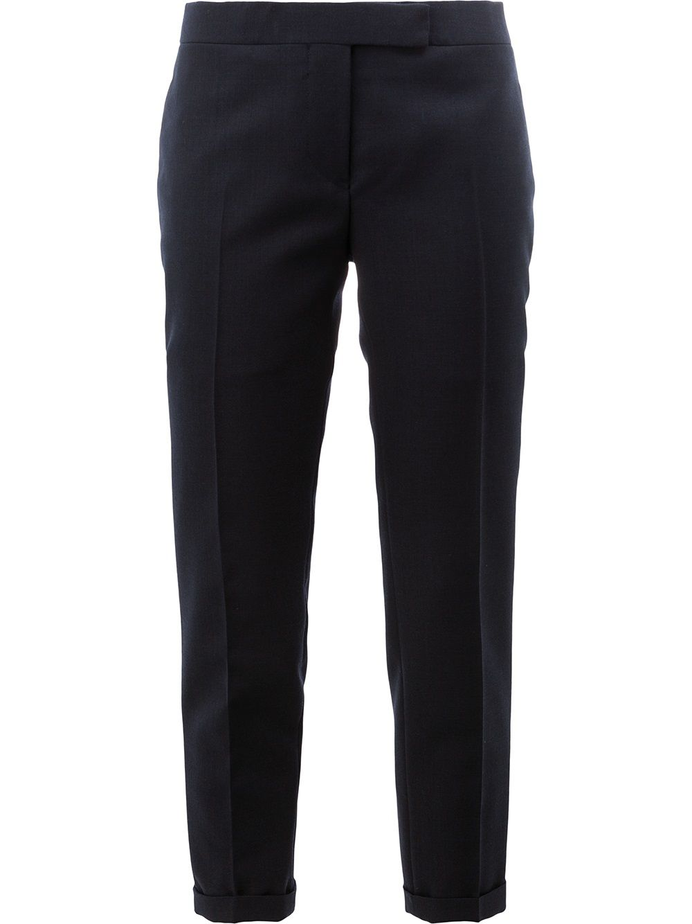 Thom Browne Lowrise Skinny Trousers In Navy 2-Ply Wool Fresco - Blue von Thom Browne