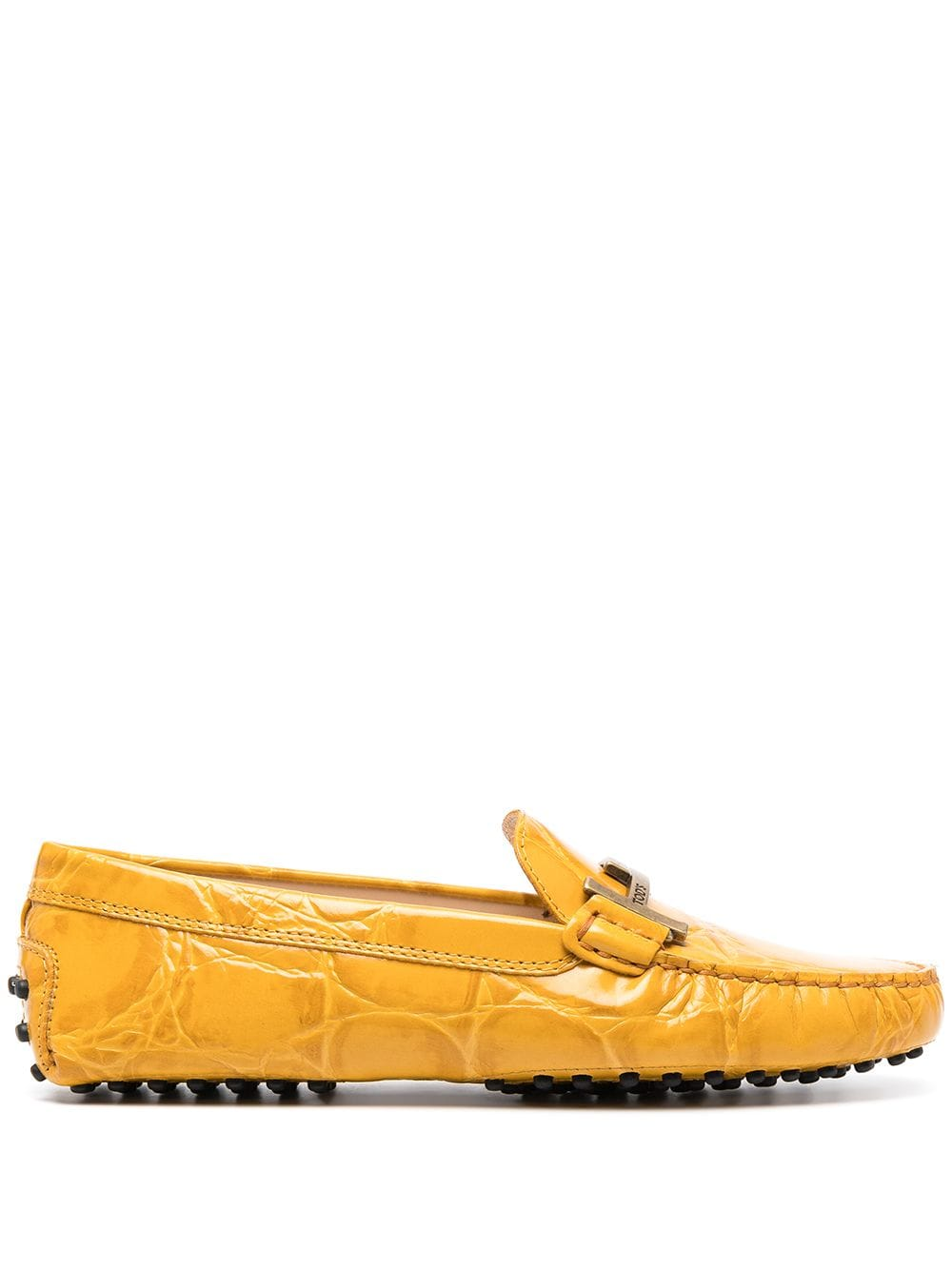 Tod's City Gommino leather loafers - Yellow von Tod's