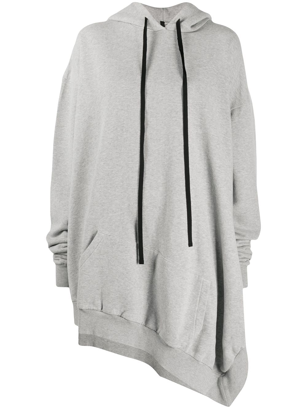 UNRAVEL PROJECT asymmetric hoodie - Grey von UNRAVEL PROJECT