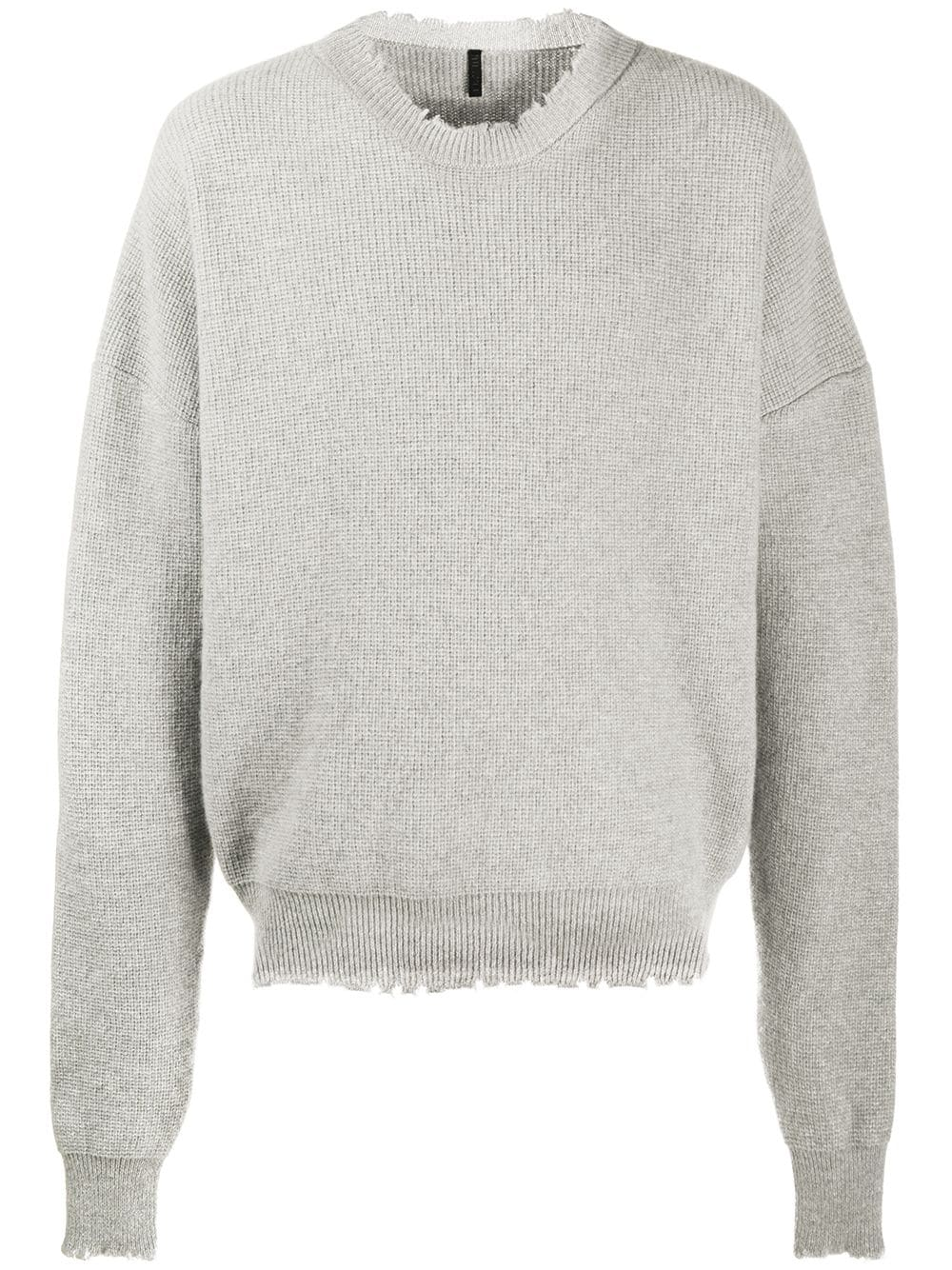 UNRAVEL PROJECT distressed-edge ribbed jumper - Grey von UNRAVEL PROJECT