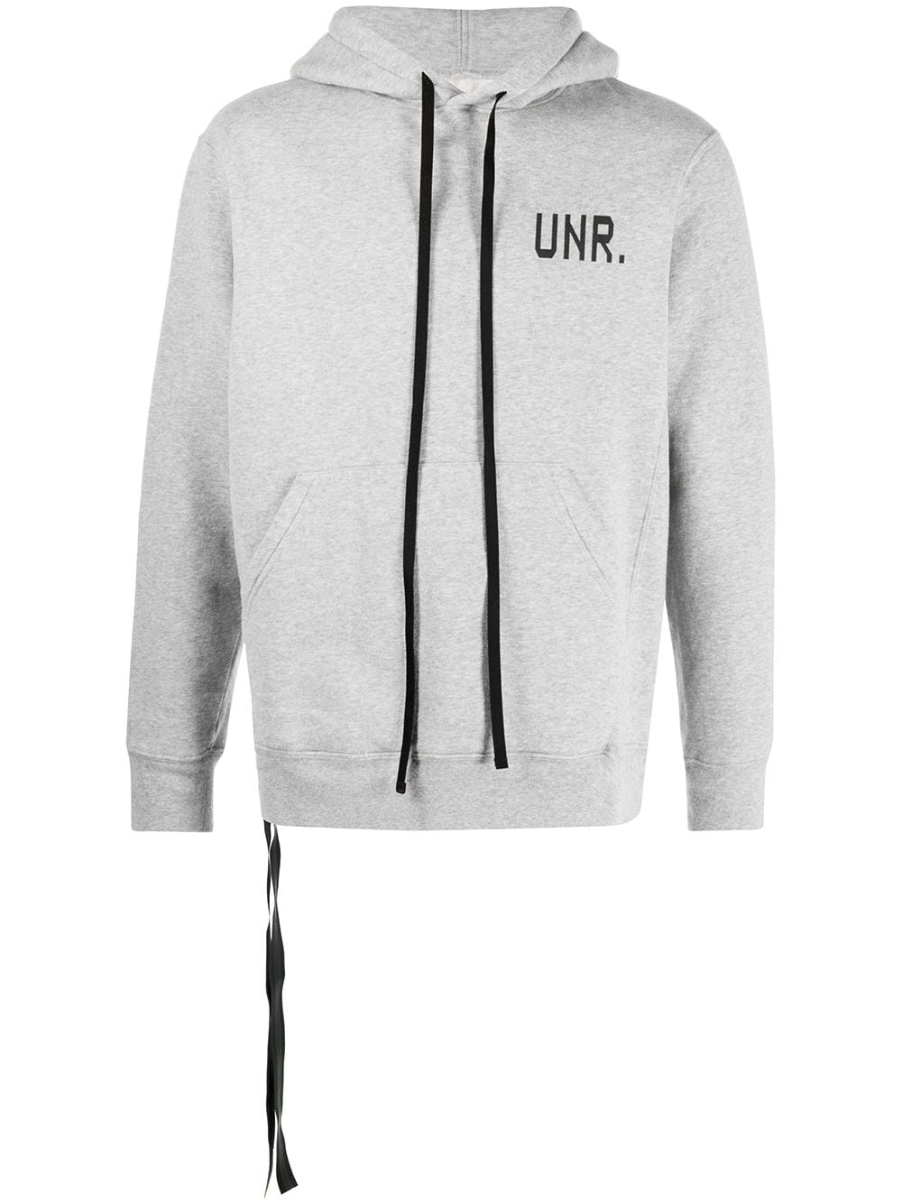 UNRAVEL PROJECT logo print hoodie - Grey von UNRAVEL PROJECT