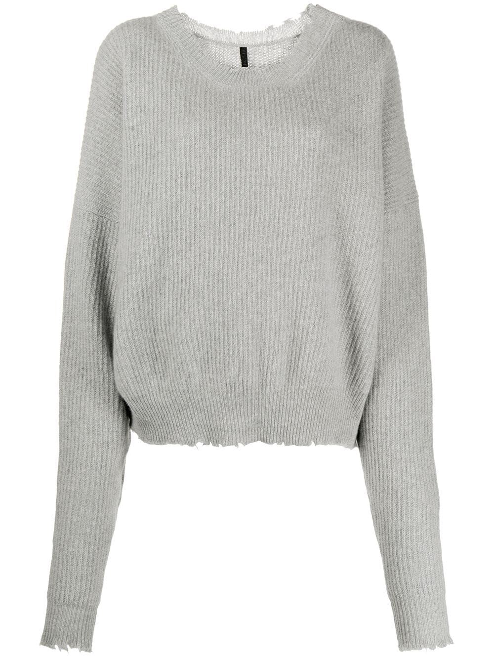 UNRAVEL PROJECT slouchy knitted jumper - Grey von UNRAVEL PROJECT