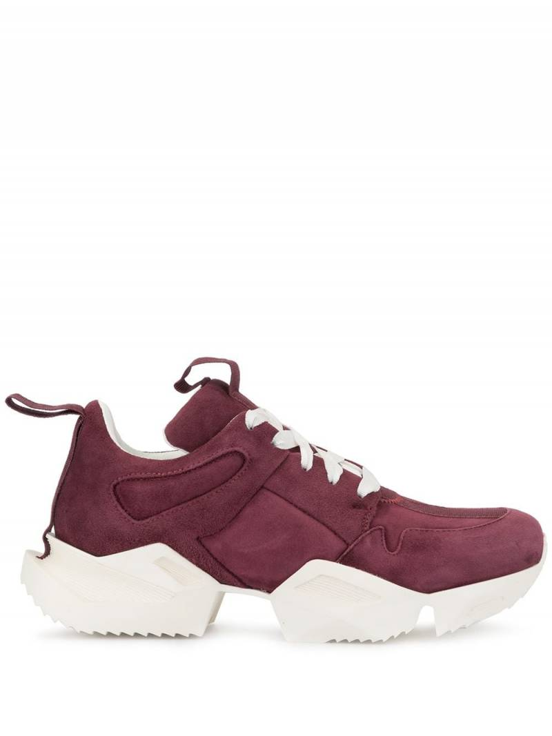 UNRAVEL PROJECT cut out sneakers - Red von UNRAVEL PROJECT
