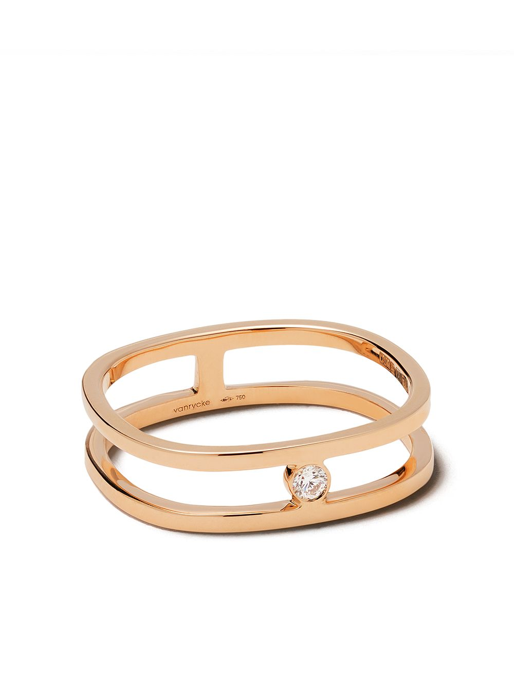 Vanrycke 18kt rose gold Charlie diamond ring - 18KT ROSE GOLD DIAMONDS von Vanrycke