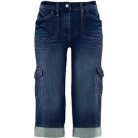 Cargo-Stretch-Jeans mit Bequembund, Caprilänge von bpc bonprix collection
